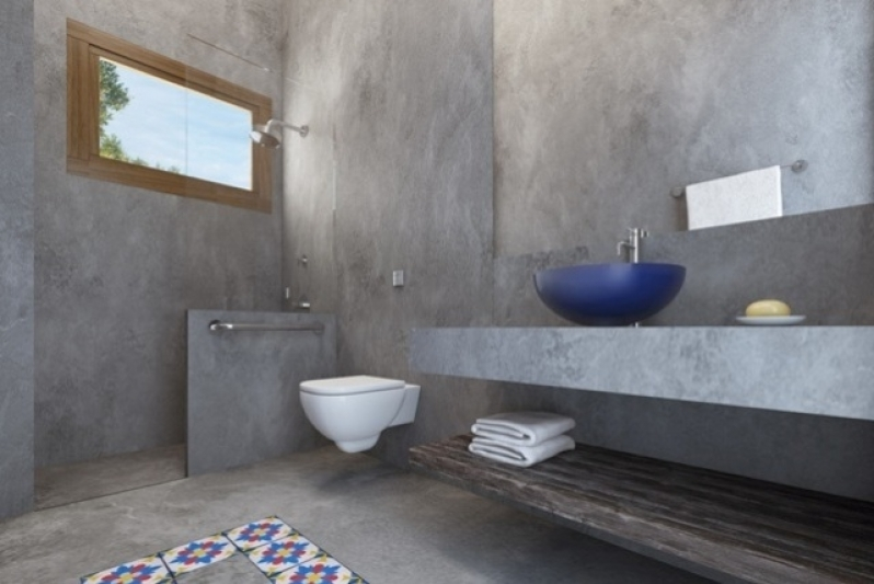 Cimento Queimado para Banheiro Campo Belo - Cimento Queimado para área Externa