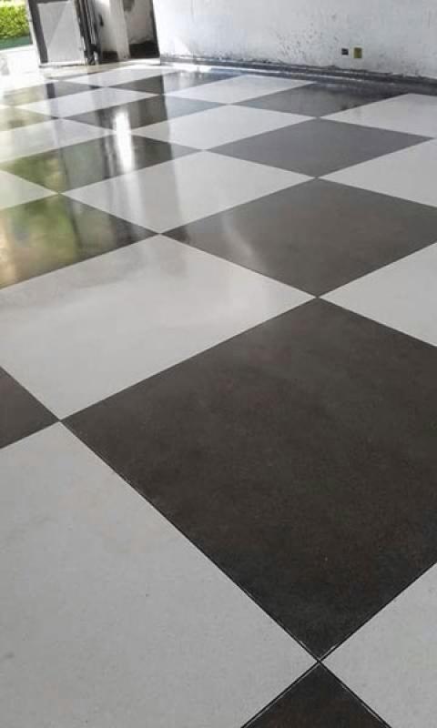 Piso de Granilite Branco Higienópolis - Piso Granilite 40x40