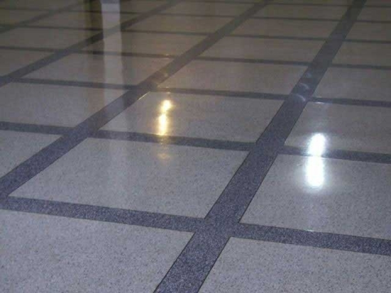 Piso Granilite Cozinha Pinheiros - Piso Granilite 40x40
