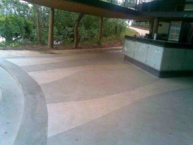 Pisos de Granilite Branco Campo Belo - Piso Granilite Cozinha