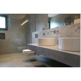 cimento queimado para banheiro valor Brooklin