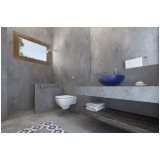 cimento queimado para banheiro Santa Cecília