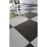 piso de granilite branco Campo Belo