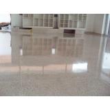 pisos granilite bege Pinheiros
