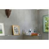 preço de cimento queimado parede Faria Lima