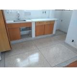 quanto custa piso granilite cozinha Faria Lima